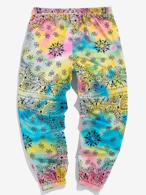 ZAFUL Pantalones Deportivos con Estampado de Cachemira - Multicolor XL Mobile
