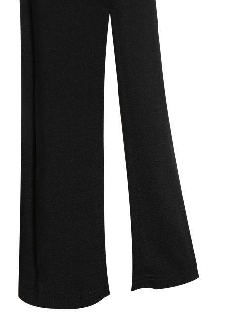 hot ZAFUL High Waist Front Slit Bootcut Pants - BLACK M Mobile