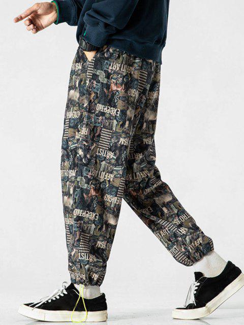 Pantalones Trotar Figura Animal - Multicolor-A L Mobile