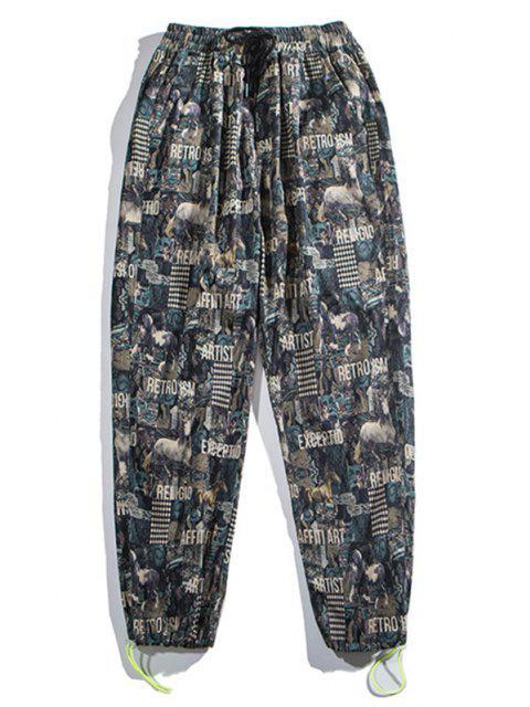Pantalones Trotar Figura Animal - Multicolor-A M Mobile