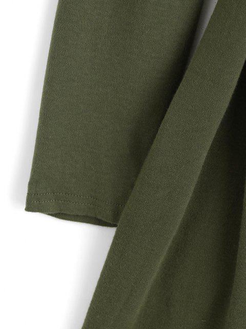 Robe Tulipe Ceinturée à Goutte Epaule - Vert clair L Mobile