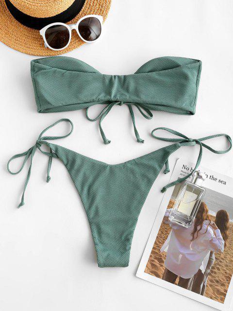 Bikini a Fascia di ZAFUL - Verde intenso S Mobile