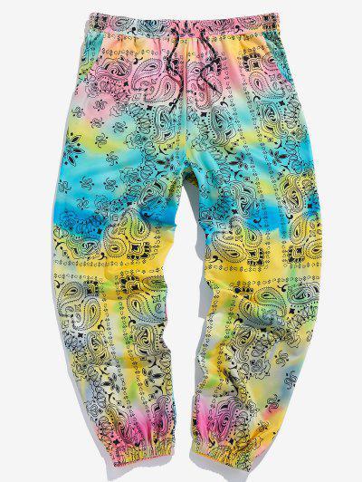 ZAFUL Tie Dye Paisley Print Sports Pants - Multi Xl