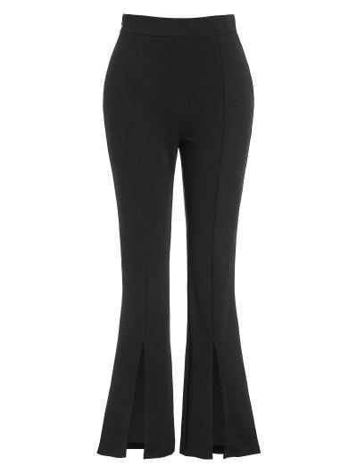 ZAFUL High Waist Front Slit Bootcut Pants - Black S