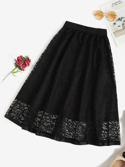 hot Lace Midi Skirt - BLACK ONE SIZE Mobile