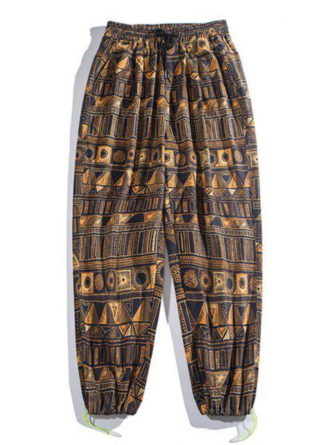 Pantalones Rayados Estampado Geométrico - Bronce 3XL Mobile