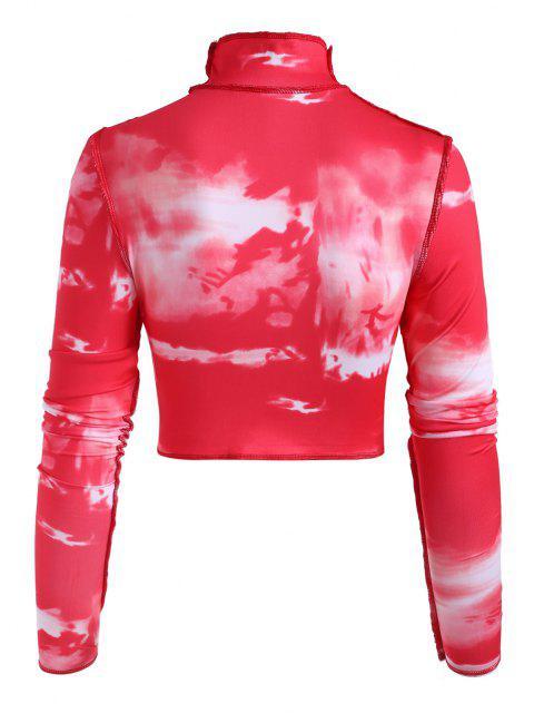 Camisola mangas compridas com gola alta Cortado - Vermelho L Mobile