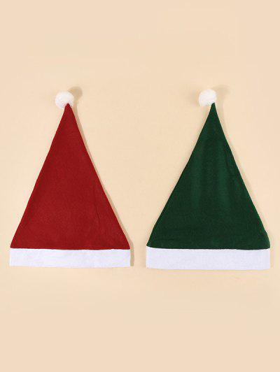 2Pcs Colorblock Bubble Christmas Hat Set - Multi-a