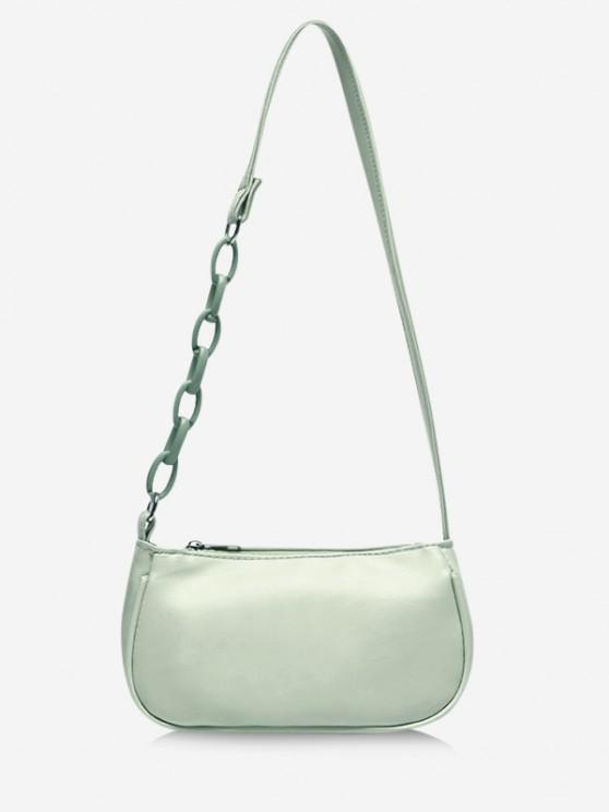 outfit Solid Chains Shoulder Bag - MINT GREEN