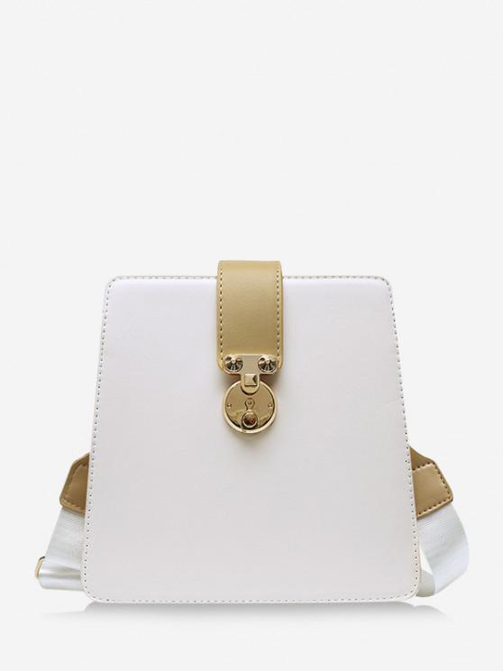 online Colorblock Square Crossbody Bag - WARM WHITE