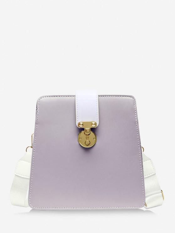 outfit Colorblock Square Crossbody Bag - MAUVE