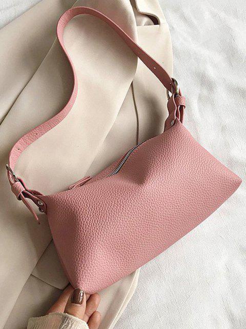 affordable Solid Long Shoulder Bag - LIGHT PINK  Mobile
