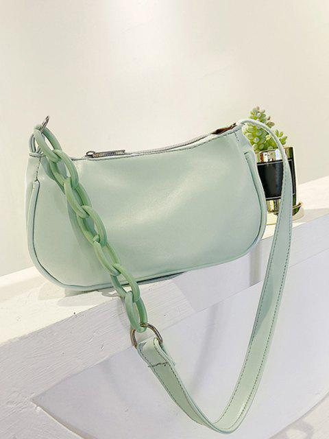 outfit Solid Chains Shoulder Bag - MINT GREEN  Mobile