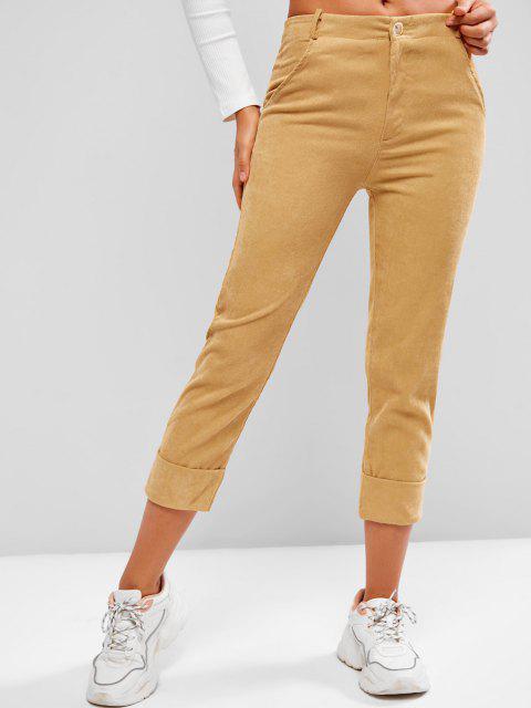 Gerippte Hose aus Kord mit Bündchen - Dunkel gelb XL Mobile