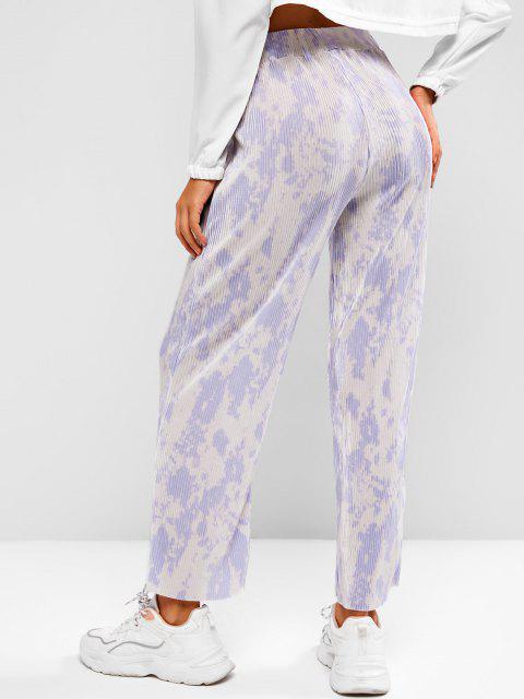PantalonPlisséJambeLargeà Taille Haute - Multi-H L Mobile