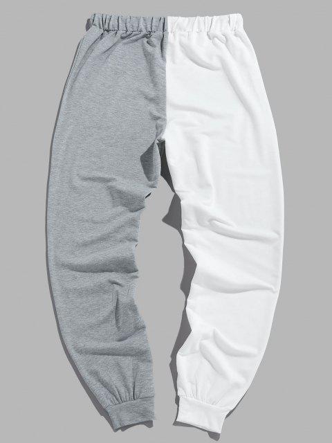 fancy ZAFUL Two Tone Smiling Face Drawstring Pants - MULTI-C S Mobile