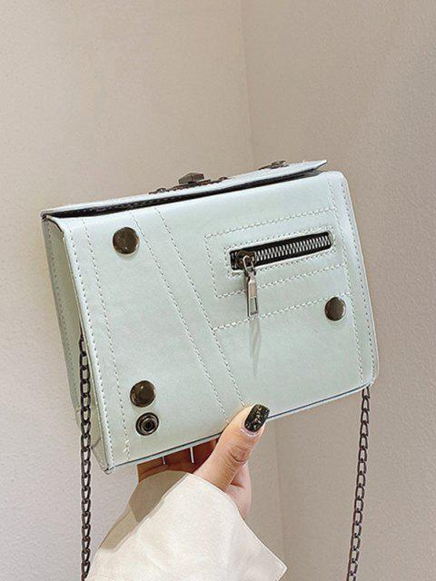 best Rectangle Chain Crossbody Bag - LIGHT GREEN  Mobile