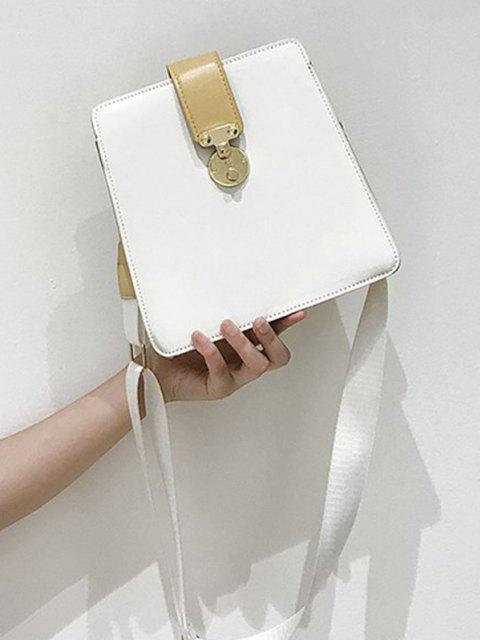 online Colorblock Square Crossbody Bag - WARM WHITE  Mobile