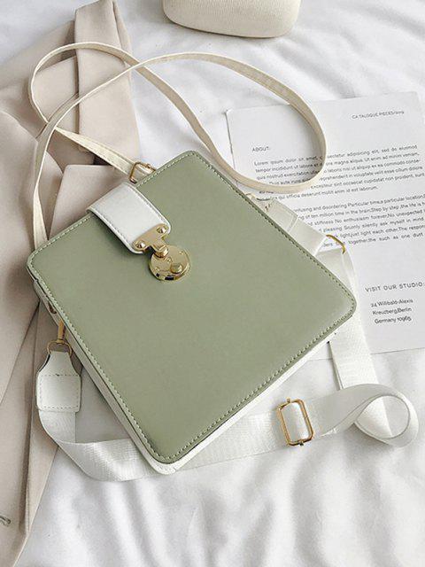 Bolsa Cruzada Cuadrada Bloqueo de Color - Verde Camuflaje  Mobile