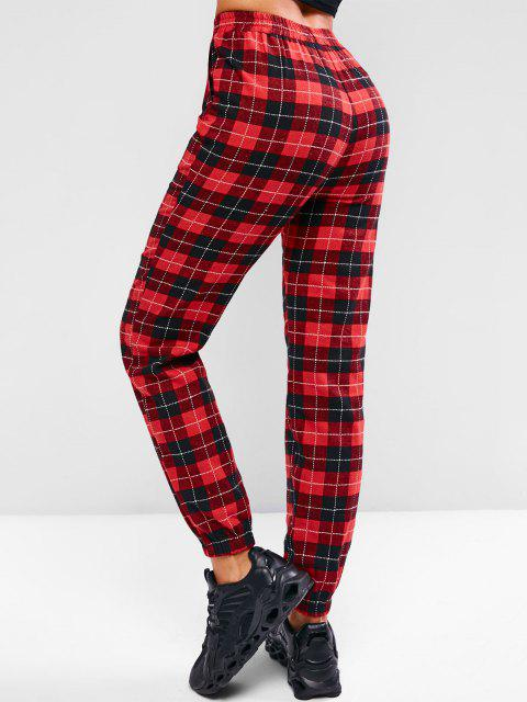 ZAFUL Karierte Hose mit Hoher Taille - Rot S Mobile