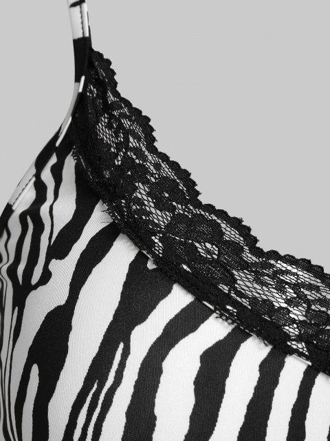 Canotta Corta con Stampa Zebra di ZAFUL - Bianca XL Mobile