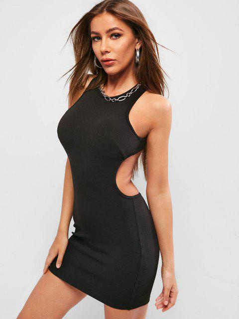 trendy ZAFUL Criss Cross Backless Sleeveless Bodycon Dress - BLACK XL Mobile