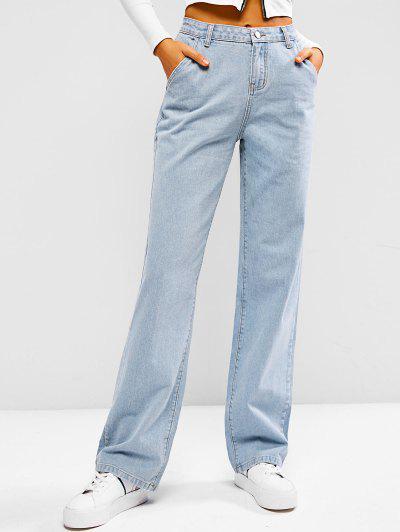 Light Wash Baggy Boyfriend Jeans - Light Blue S