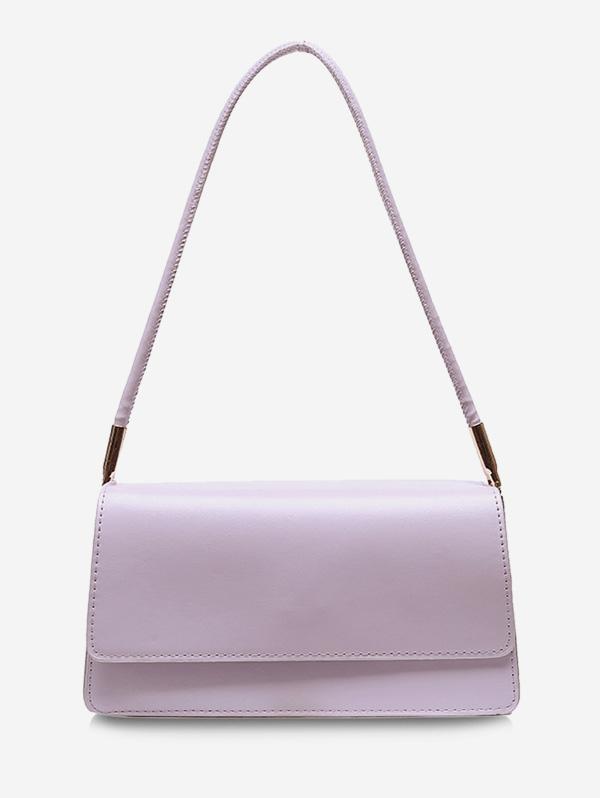 Solid Cover Rectangle Shoulder Bag