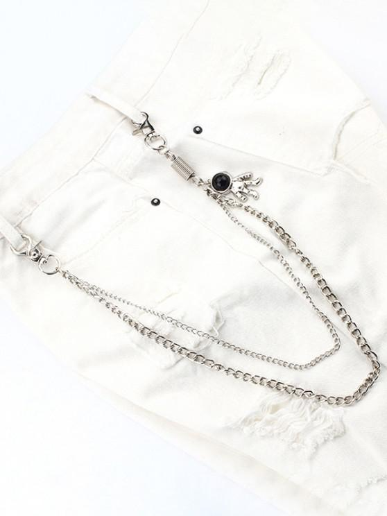 outfits Astronaut Pendant Layered Trousers Chain - SILVER