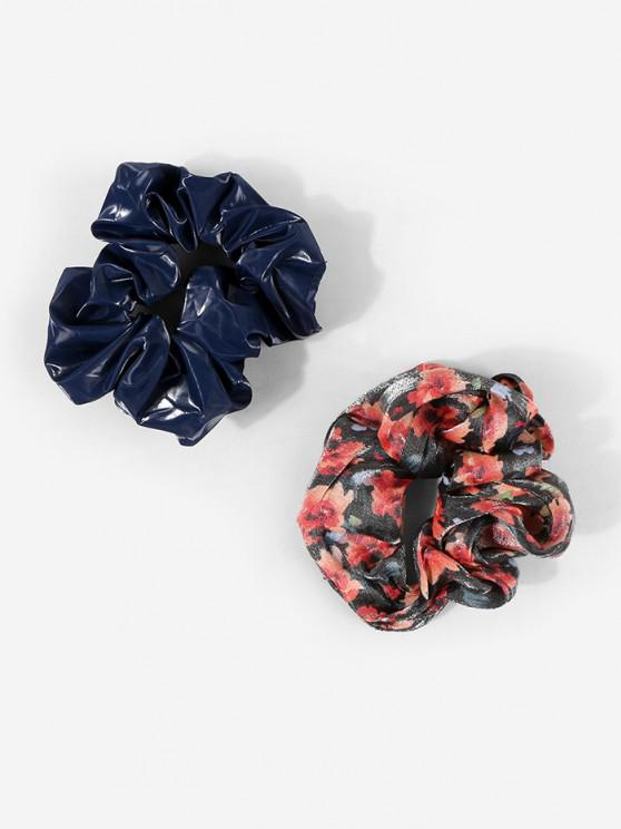 outfit 2Pcs Flower Print Scrunchie Set - MULTI-A