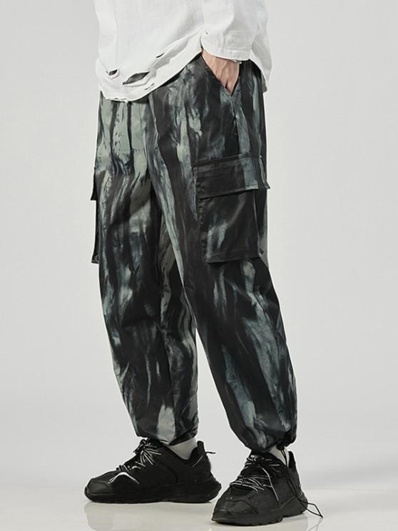 new Tie Dye Print Cargo Pants - NIGHT L