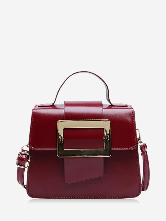women's Rectangle Embellished Crossbody Bag - RED WINE