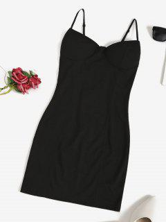 Padded Night Out Bodycon Cami Dress - Black Xl