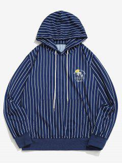 Algarve Nautical Journey Striped Pattern Hoodie - Blue L