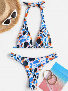 ZAFUL Printed Convertible Cheeky Bikini Swimwear - Multi S