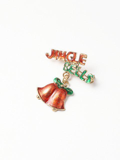 Broche de esmaltado de Bell del cascabeleo de Navidad - Multicolor  Mobile