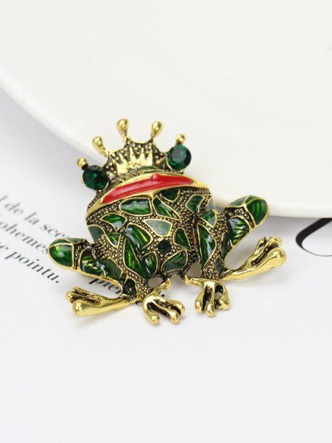 online Crown Frog Shape Rhinestone Brooch - MULTI  Mobile