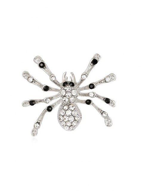 hot Rhinestone Spider Shape Brooch - SILVER  Mobile
