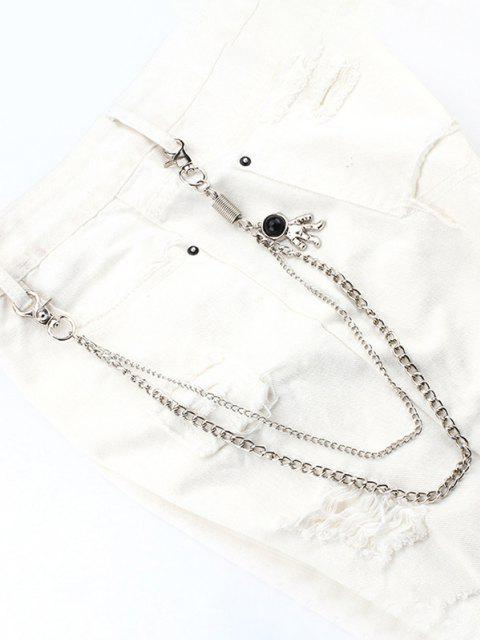 outfits Astronaut Pendant Layered Trousers Chain - SILVER  Mobile