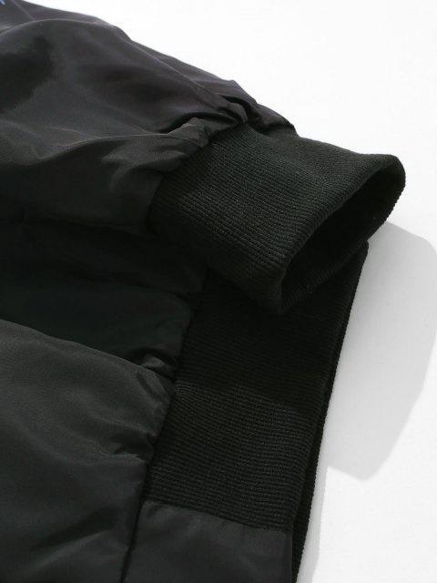 Veste Zippée MotifdeFleur - Noir L Mobile