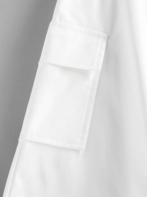affordable ZAFUL Pleated Pocket Mini Skirt - WHITE S Mobile