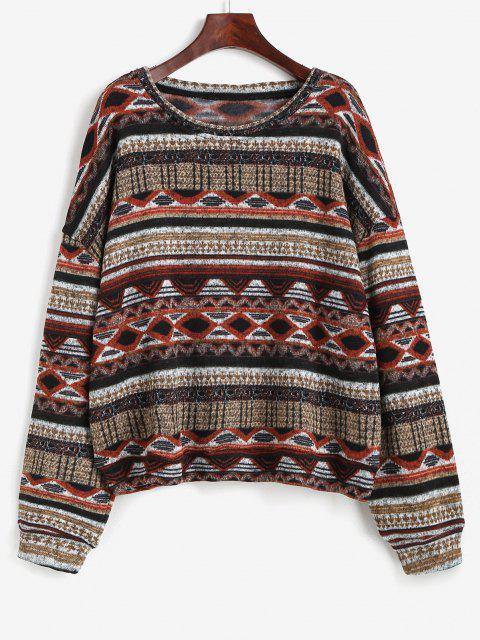 Camisola de Lã Tribal Tricotado - Multi XL Mobile