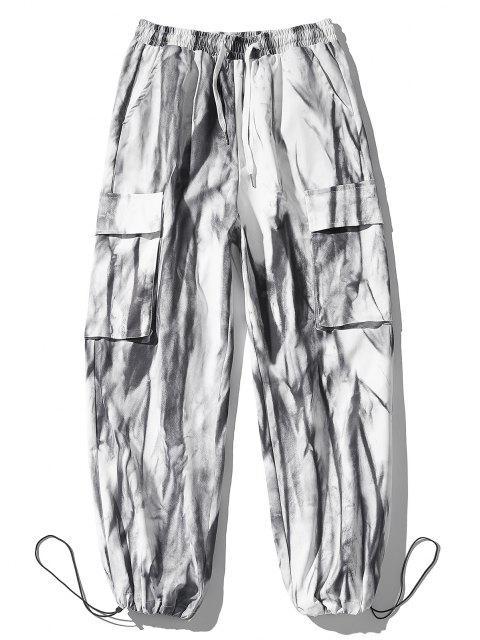 Pantalones de Tie Dye con Estampado - Blanco S Mobile