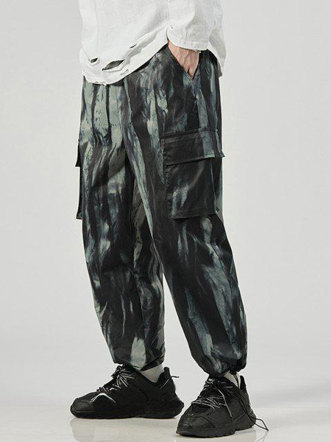 Pantalones de Tie Dye con Estampado - Negro  S Mobile