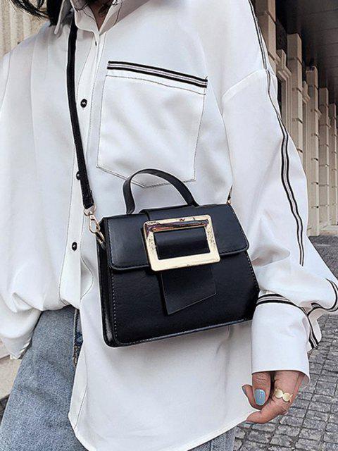 womens Rectangle Embellished Crossbody Bag - BLACK  Mobile