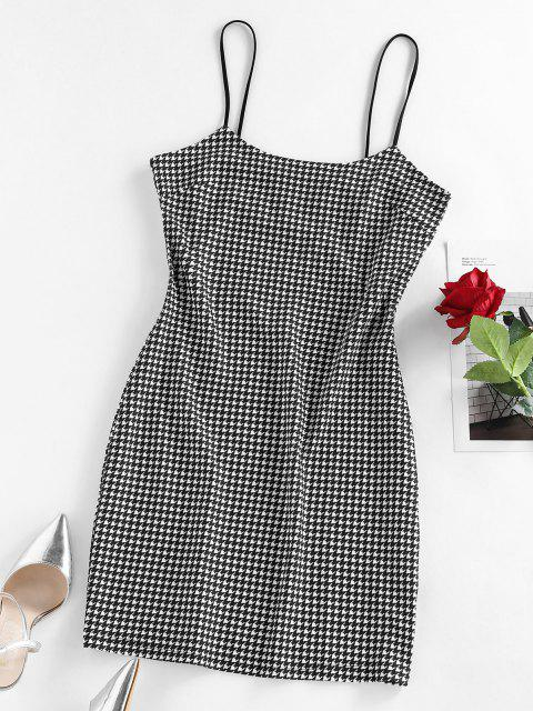 affordable ZAFUL Houndstooth Mini Bodycon Dress - MULTI L Mobile