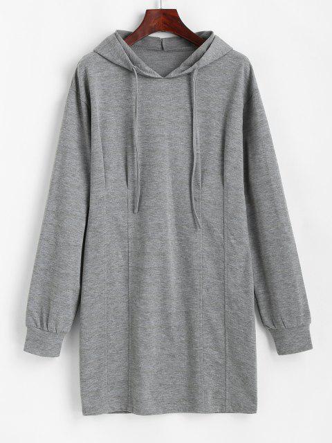 ZAFUL Robe à Capuche à Manches Longues à Cordon - Gris Foncé XL Mobile
