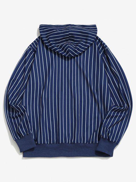 women Algarve Nautical Journey Striped Pattern Hoodie - BLUE S Mobile