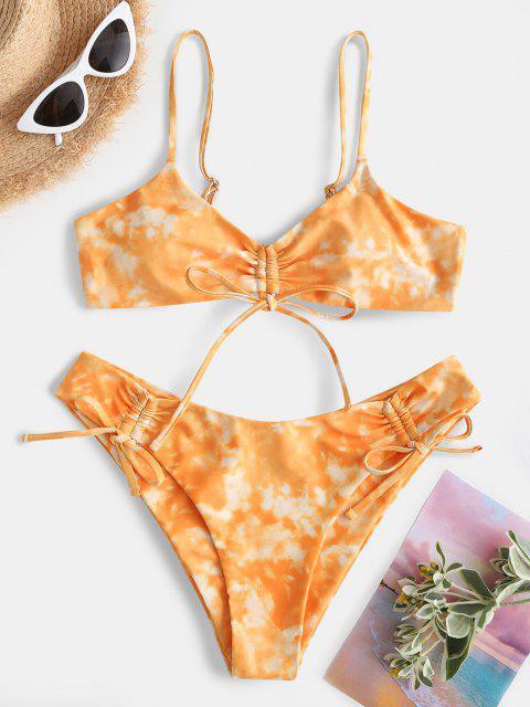 ZAFUL Maillot de Bain Bikini Sanglé Teinté - Orange Foncé S Mobile