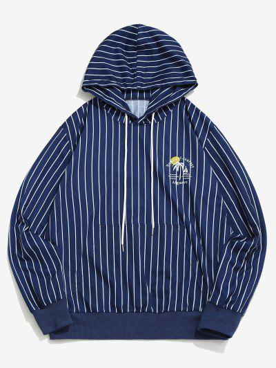 Algarve Nautical Journey Striped Pattern Hoodie - Blue Xl